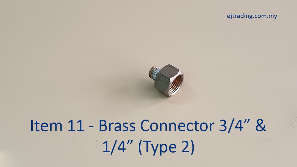 Gas Pipe Brass connector three quarter inch and quarter inch type 2
