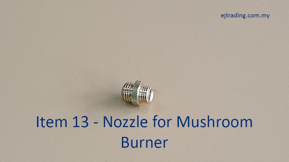 Nozzle for Mushroom Burner
