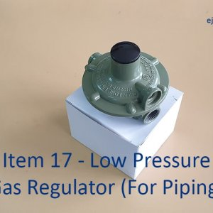 Low Pressure Gas Regulator for piping