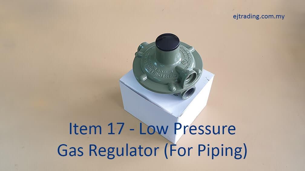 Low Pressure Gas Regulator for piping