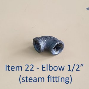 Half-inch Elbow for Steam Fitting
