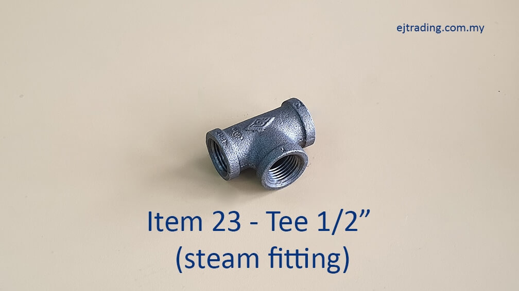 Half inch Tee for Steam Fitting
