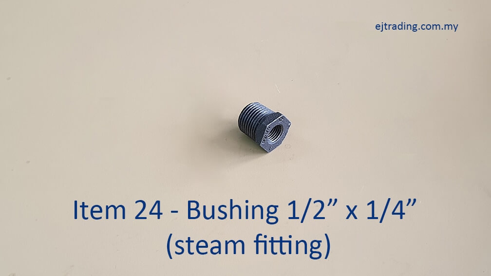Half inch to Quarter inch Bushing for steam fitting