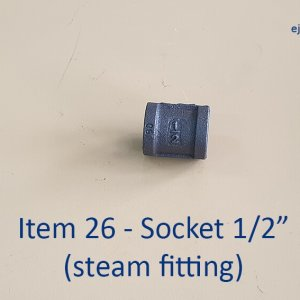 Half inch Socket for Steam Fitting