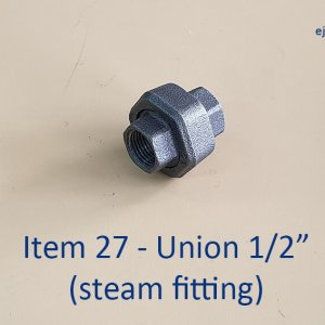 Half inch Union for Steam Fitting
