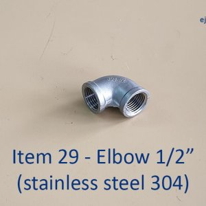 Half inch Stainless Steel 304 Elbow