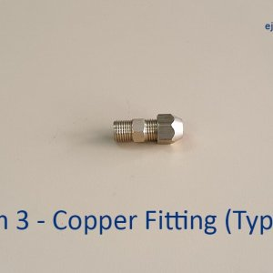 Gas Pipe Copper Fitting Type 2