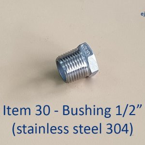 Half inch Stainless Steel 304 Bushing
