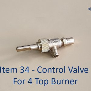 Control Valve for 4 Top Gas Burner