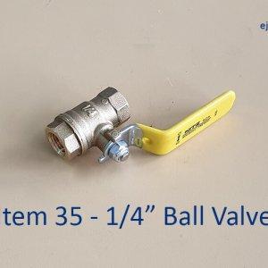Quarter inch Ball Valve for Gas Pipe