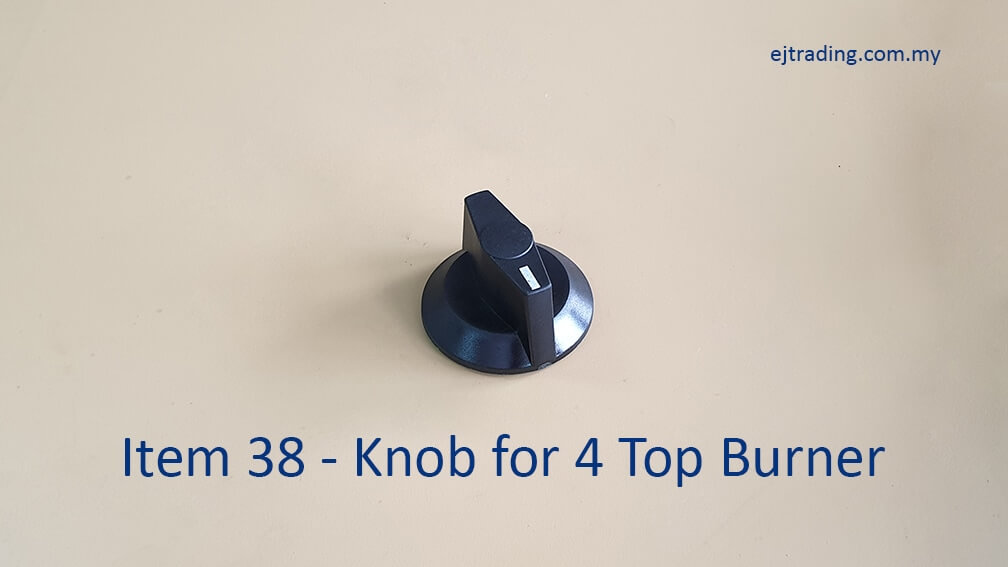 Gas Knob for 4 Top Burner