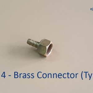 Gas Pipe Brass Connector (type 1)