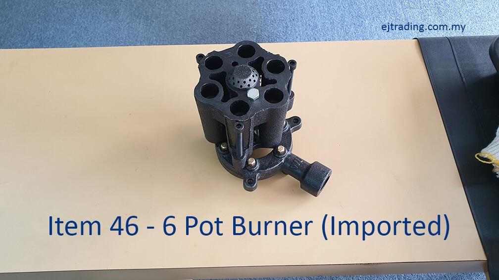 Imported 6 Pot Burner