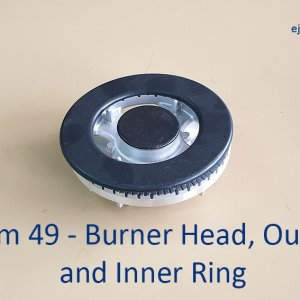 Burner head and Outer Inner Ring (type 2)