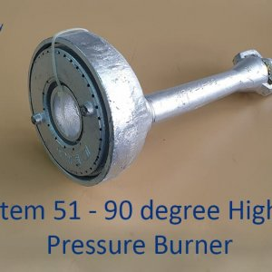 90 Degrees High Pressure Gas Burner