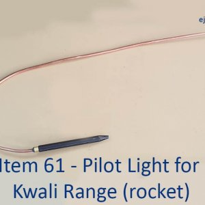 Pilot Light for Kwali Range Rocket