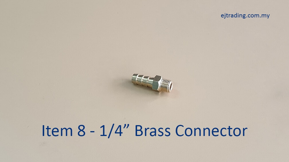 """1/4"""" Brass Connector for Gas Pipe"""