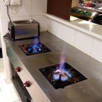 Gas Stove Burner Installation for cafe