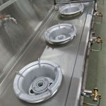 Installing gas stove and piping for commercial restaurant