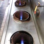 Restaurant Gas Stove Jet Burner repaired and restored to blue flame