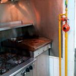 Installing Gas Stove, Piping and Regulator for restaurant kitchen