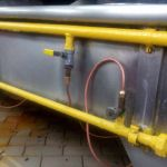 Gas piping leaking inspection and maintenance service in restaurant